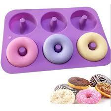Silicone <b>Donut</b> Molds 6 <b>Cavity</b> Non-Stick Safe Baking Tray Maker ...