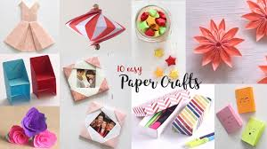10 easy paper crafts pilation diy craft ideas art all the way