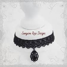 victorian gothic mourning black lace choker necklace gothic black pendant choker black lace pendant choker adjule various sizes