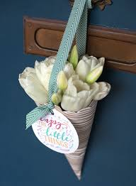 Paper Cones For Flower Petals Make Your Own May Day Basket Lia Griffith