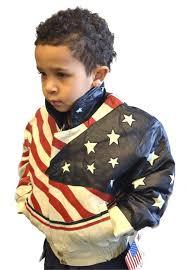 american flag usa kids leather coat