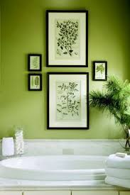 beautiful green wall and great way to hang artwork in the bathroom on lime green wall artwork with green wall decor my web value
