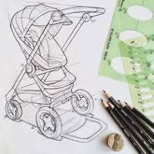 industrial design sketches. Stroller Sketch. Product Design Industrial Sketches