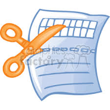 Coupon Clipart Free Royalty Free Cartoon Cartoon Scissors Cutting A Coupon Clipart