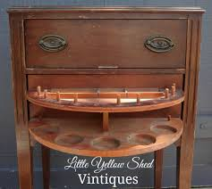 Antique Drawer Cabinet Refinished Vintage Sewing Cabinet Little Yellow Shed Vintiques