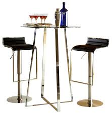 pub table and stool sets. ursula-b 3 pc contemporary bar table \u0026 adjustable stools set contemporary-indoor- pub and stool sets -