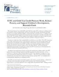eitc and child tax credit promote work reduce poverty and  more on this topic