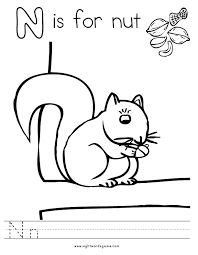 preschool letter n coloring pages the best worksheets image collection and share worksheets