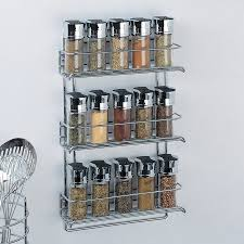 Organize It All Metal Wall-mount Spice Rack