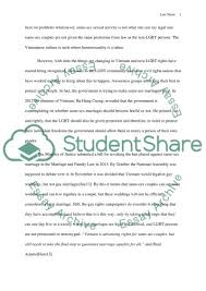 homosexuality in vietnam essay example topics and well written  homosexuality in vietnam essay example