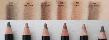 dior powder eyebrow pencil revew swatch 093 black 433 ash brown 453 soft brown 593 brown