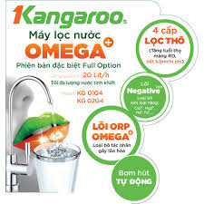Máy lọc nước Kangaroo Omega+ KG01G4 - Lõi ORP OMEGA+ chống oxi hóa