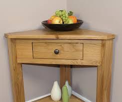 small console table. Oak Corner Console Table Small