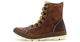 converse chuck taylor outsider hi leather boots chocolate brown 125664c men s mid boots in brown in brown for men lyst