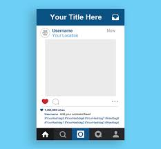 instagram frame template high quality printable instagram photo