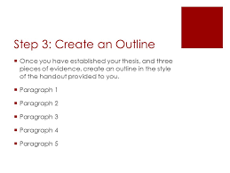 writing a paragraph essay ppt video online step 3 create an outline