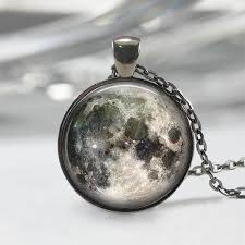 full moon necklace full moon jewelry full moon pendant full moon charm space necklace space jewelry universe necklace galaxy necklace gift
