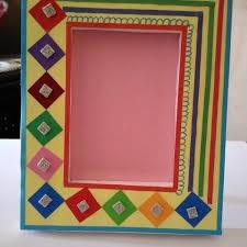 how to make handmade photo frames with handmade paper step by step