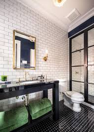 industrial style bathroom lighting. Dark-tiles-industrial-bathroom Industrial Style Bathroom Lighting
