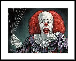 pennywise the clown framed art prints fine art america pennywise the dancing clown or bob gray framed print