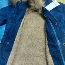 casual denim children jackets girls boys coats hooded faux fur collar kids outerwear cotton padded baby girl boy winter coat