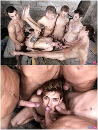 Gay orgy anal cum