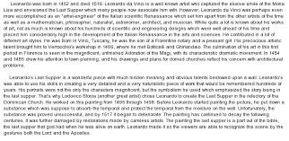 leonardo da vinci at com essay on leonardo da vinci