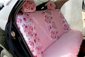 car seat cover set 21pcs ice silk pink more images