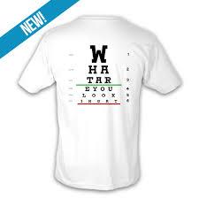 Eye Chart T Shirt Unisex