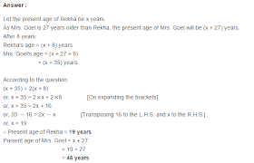 linear equation in one variable rs