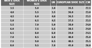 Janoski Size Chart Nike Sb Mens And Womens Size Chart Skate Shoes Ph