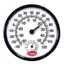 indoor outdoor wall thermometer 12
