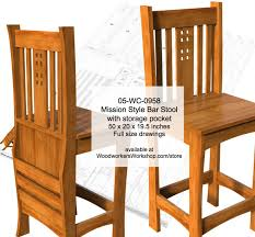 mission style bar stools. Exellent Style Mission Style Bar Stool Woodworking Plan Inside Style Stools I