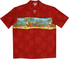 Christmas in Paradise Men's Holiday Christmas Hawaiian Shirt