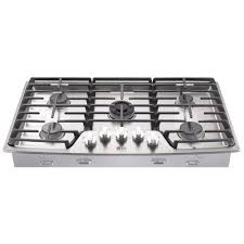 gas cooktop with grill. Gas Cooktop In Stainless Steel With 5 Burners Including Ultraheat Dual Grill E