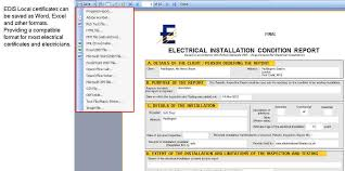 Saving Edis Local Electrical Certificates In Word, Excel And Other ...