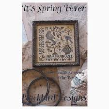 Blackbird Designs Cross Stitch Charts Loose Feathers Its Spring Fever