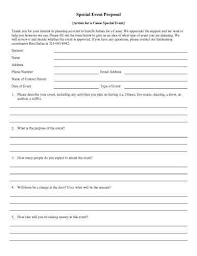 special event proposal bookkeeping proposal