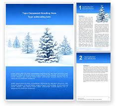 Winter Snow Word Template 02800 Poweredtemplate Com
