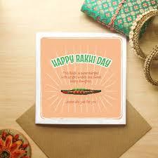 Kushiya Designs Rakhi With Happy Rakhi Day Card Green Orange Rakhi