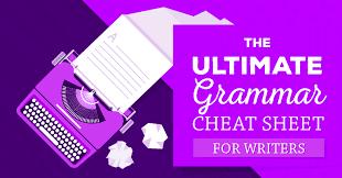 Grammar Tips How To Make Good Grammar Your Super Power Cheat Sheet