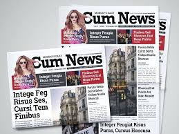 Creative Newspaper Template Magazine Templates With Creative Print Layout Designs