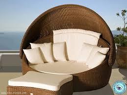 modern wicker patio furniture. Excellent Modern Wicker Patio Furniture With Pod And White Cushions C
