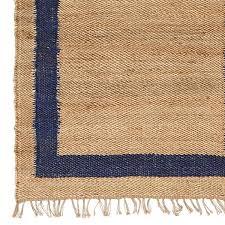navy border jute rug caitlin wilson jute rug with grey border