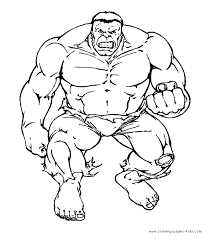 Hulk Coloring Pages The Hulk Color Page Coloring Pages For Kids