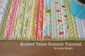 Quilted Table Runner - Free Quilting Tutorial & Free Quilting Pattern and Tutorial - Quilted Table Runner Adamdwight.com
