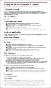 good summary for resume management accountant cv sample myperfectcv