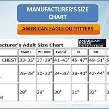 American Eagle Size Chart For Men S Jeans The Best Style Jeans