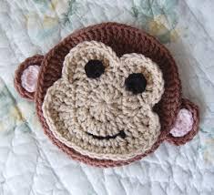 crochet sock monkey applique pattern