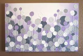 light purple and grey textured painting